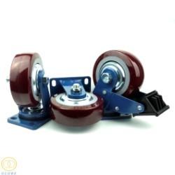 Bánh xe đẩy chịu lực siêu lớn Globe 150 PU nâu