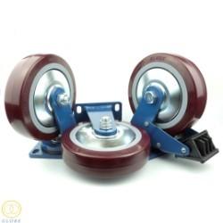 Bánh xe đẩy chịu lực siêu lớn Globe 200 PU nâu