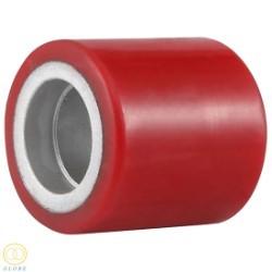 Bánh xe nâng tay Globe 80 PU đỏ cốt gang