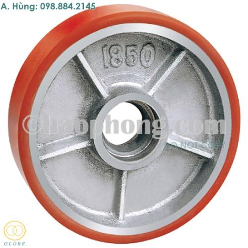 Bánh xe nâng hàng Globe 180 PU đỏ cốt gang