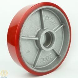 Bánh xe nâng hàng Globe 200 PU đỏ cốt gang