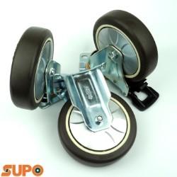 Bánh xe SUPO 125 cao su mềm, mặt đế
