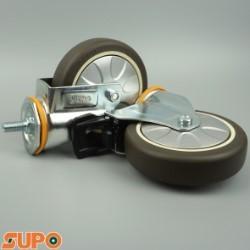 Bánh xe SUPO 125 cao su mềm, cọc vít