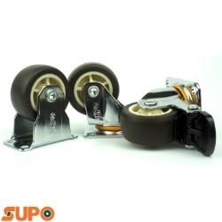 Bánh xe cao su loại nhỏ SUPO 38, mặt đế