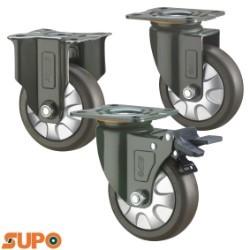 Bánh xe SUPO 150 cao su mềm, mặt đế