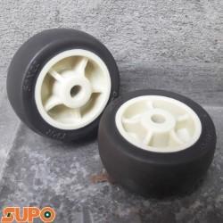 Bánh xe 38 cao su mềm SUPO (bạc)