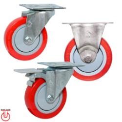 Bánh xe đẩy TPU 100x28 Phong Thạnh, mặt đế