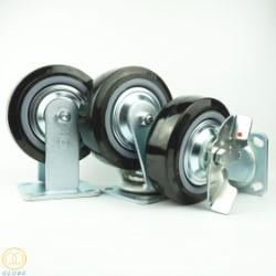 Bánh xe đẩy chịu lực Globe 150 PU đen