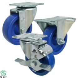Bánh xe đẩy nhỏ Gia Cường 65 PP xanh, mặt đế