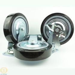 Bánh xe đẩy chịu lực Globe 200 PU đen