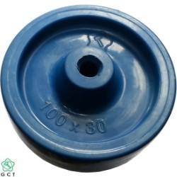 Bánh xe không trục 100 PP xanh Gia Cường