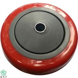 Bánh xe không trục 125x32 PU đỏ Gia Cường