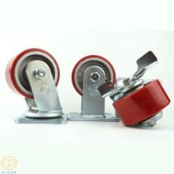 Bánh xe đẩy tải nặng Globe 100 PU gang