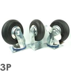 Bánh xe đẩy 3P 150 Cao su gang