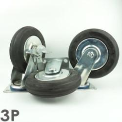 Bánh xe đẩy 3P200 Cao su gang