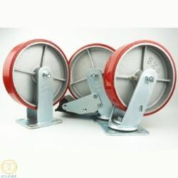 Bánh xe đẩy tải nặng Globe 200 PU gang