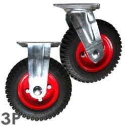 Bánh xe đẩy PH250-4 Cao su mâm thép