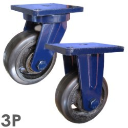 Bánh xe đẩy cao su chịu lực SS200